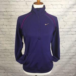Nike half zip dri fit sweatshirt size M